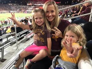 Cara attended Arizona State Sun Devils vs. Stanford - NCAA Football on Oct 18th 2018 via VetTix