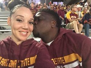 Erica & De'J attended Arizona State Sun Devils vs. Stanford - NCAA Football on Oct 18th 2018 via VetTix