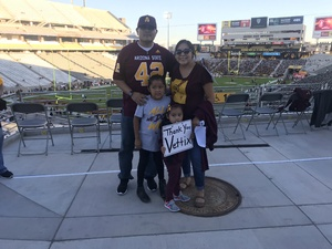 Frank attended Arizona State Sun Devils vs. Stanford - NCAA Football on Oct 18th 2018 via VetTix