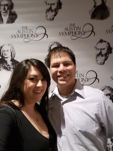 Luis attended Tale of Two Titans - Tracking Attendance - Presented by the Austin Symphony on Dec 1st 2018 via VetTix