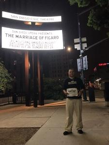 Daniel attended The Marriage of Figaro on Oct 23rd 2018 via VetTix