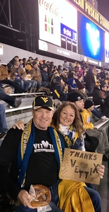 Gregory attended West Virginia Mountaineers vs. Baylor Bears - NCAA Football on Oct 25th 2018 via VetTix