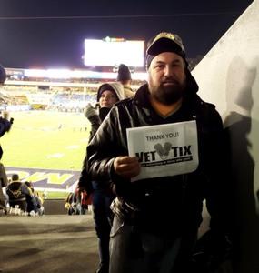 Brian attended West Virginia Mountaineers vs. Baylor Bears - NCAA Football on Oct 25th 2018 via VetTix