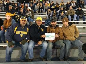 Matthew attended West Virginia Mountaineers vs. Baylor Bears - NCAA Football on Oct 25th 2018 via VetTix