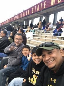 Michael attended Texas State University Bobcats vs. Appalachian State - NCAA Football - Military Appreciation Game on Nov 10th 2018 via VetTix