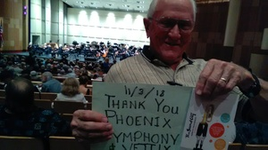 russell attended Phoenix Symphony Presents Elgar's Enigma Variations - Saturday on Nov 3rd 2018 via VetTix