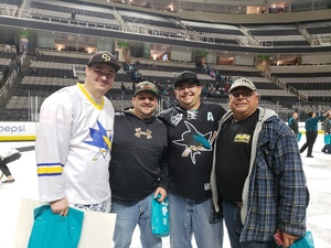 Jerry attended San Jose Sharks vs. Calgary Flames - NHL - Military Appreciation Night - After Game on Ice Photo Opportunity on Nov 11th 2018 via VetTix