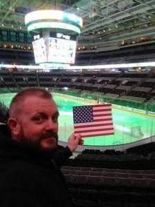 Josh attended San Jose Sharks vs. Calgary Flames - NHL - Military Appreciation Night - After Game on Ice Photo Opportunity on Nov 11th 2018 via VetTix