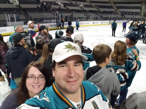 Robert attended San Jose Sharks vs. Calgary Flames - NHL - Military Appreciation Night - After Game on Ice Photo Opportunity on Nov 11th 2018 via VetTix