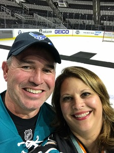 Maxie attended San Jose Sharks vs. Calgary Flames - NHL - Military Appreciation Night - After Game on Ice Photo Opportunity on Nov 11th 2018 via VetTix