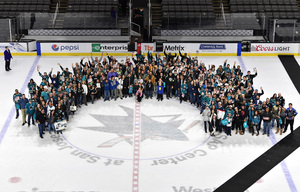 Leif attended San Jose Sharks vs. Calgary Flames - NHL - Military Appreciation Night - After Game on Ice Photo Opportunity on Nov 11th 2018 via VetTix