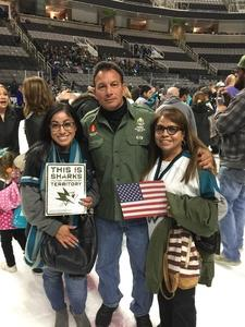 rodney attended San Jose Sharks vs. Calgary Flames - NHL - Military Appreciation Night - After Game on Ice Photo Opportunity on Nov 11th 2018 via VetTix