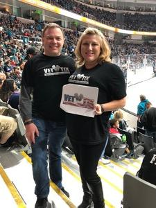 Click To Read More Feedback from San Jose Sharks vs. Calgary Flames - NHL - Military Appreciation Night - After Game on Ice Photo Opportunity
