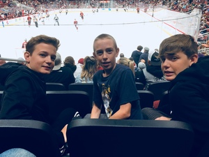 Benjamin attended Arizona Coyotes vs. Ottawa Senators - NHL on Oct 30th 2018 via VetTix