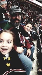 Sergio attended Arizona Coyotes vs. Ottawa Senators - NHL on Oct 30th 2018 via VetTix
