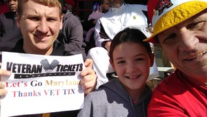 Ed attended University of Maryland vs. Michigan State - NCAA Football on Nov 3rd 2018 via VetTix