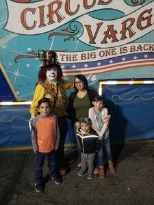 Andrew attended Circus Vargas on Nov 1st 2018 via VetTix