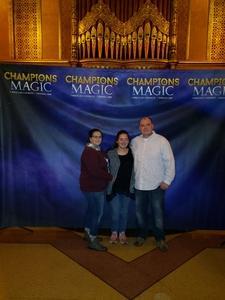 Darryl attended Champions of Magic - Magic on Nov 3rd 2018 via VetTix