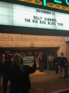 Steve attended Billy Gibbons From ZZ Top - the Big Bad Blues on Nov 11th 2018 via VetTix