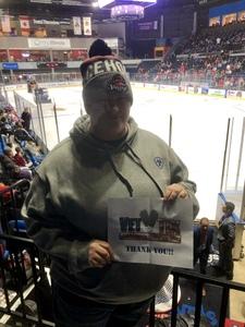 Brittany attended Rockford Icehogs vs. Texas Stars - AHL on Dec 15th 2018 via VetTix