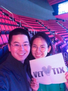 Seong-Jin attended Detroit Pistons vs. Miami Heat - NBA - Hoops for Troops Night! on Nov 5th 2018 via VetTix