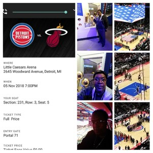 Wendell attended Detroit Pistons vs. Miami Heat - NBA - Hoops for Troops Night! on Nov 5th 2018 via VetTix