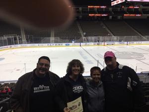George attended Jacksonville Icemen vs. Newfoundland Growlers - ECHL on Nov 21st 2018 via VetTix
