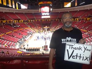 jeffery attended Arizona State Sun Devils vs. Mcneese State - NCAA Men's Basketball on Nov 9th 2018 via VetTix