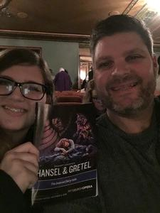 Mark attended Hansel and Gretel - Presented by the Pittsburgh Opera on Nov 11th 2018 via VetTix
