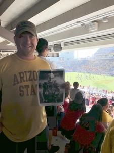 aaron attended Arizona State Sun Devils vs Utah - NCAA Football on Nov 3rd 2018 via VetTix