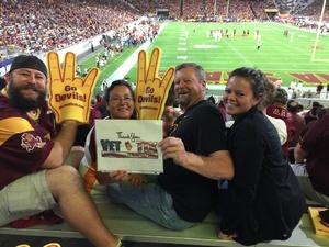 Martha attended Arizona State Sun Devils vs Utah - NCAA Football on Nov 3rd 2018 via VetTix