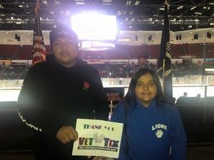 Andres attended San Diego Gulls vs. Colorado Eagles - AHL on Nov 10th 2018 via VetTix
