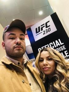 Angel attended UFC 230 - Mixed Martial Arts on Nov 3rd 2018 via VetTix