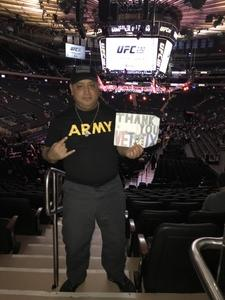 Reno attended UFC 230 - Mixed Martial Arts on Nov 3rd 2018 via VetTix