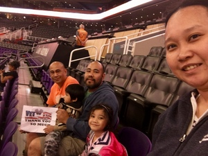 Jerome attended Phoenix Suns vs. Toronto Raptors - NBA on Nov 2nd 2018 via VetTix