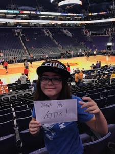 Jeffery attended Phoenix Suns vs. Toronto Raptors - NBA on Nov 2nd 2018 via VetTix
