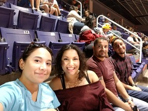 lani attended Phoenix Suns vs. Toronto Raptors - NBA on Nov 2nd 2018 via VetTix