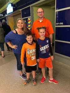 Burton attended Phoenix Suns vs. Toronto Raptors - NBA on Nov 2nd 2018 via VetTix