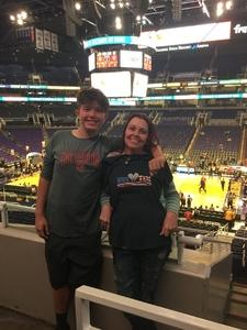 Channon attended Phoenix Suns vs. Toronto Raptors - NBA on Nov 2nd 2018 via VetTix
