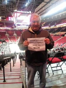 Michael attended Portland Trail Blazers vs. Minnesota Timberwolves - NBA on Nov 4th 2018 via VetTix