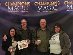 Shawn attended Champions of Magic - Denver on Nov 17th 2018 via VetTix