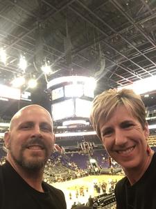 Richard attended Phoenix Suns vs. Memphis Grizzlies - NBA on Nov 4th 2018 via VetTix
