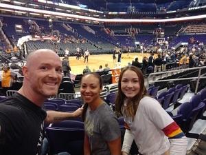 Patrick attended Phoenix Suns vs. Memphis Grizzlies - NBA on Nov 4th 2018 via VetTix