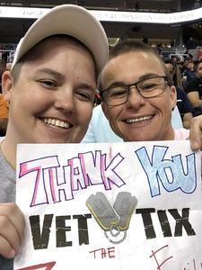 Cathie attended Phoenix Suns vs. Memphis Grizzlies - NBA on Nov 4th 2018 via VetTix