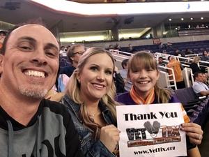 April attended Phoenix Suns vs. Memphis Grizzlies - NBA on Nov 4th 2018 via VetTix