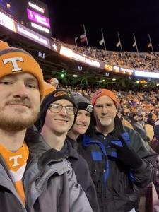 Christopher attended University of Tennessee Vols vs. University of Kentucky Wildcats - NCAA Football on Nov 10th 2018 via VetTix