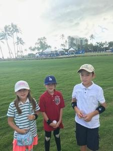 Dana attended Sony Open in Hawaii - PGA Tour at Waialae Country Club - *see Notes on Jan 7th 2019 via VetTix