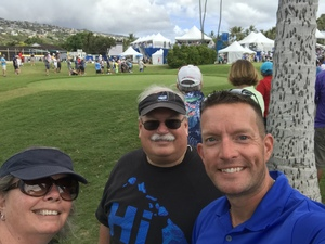 Michael attended Sony Open in Hawaii - PGA Tour at Waialae Country Club - *see Notes on Jan 7th 2019 via VetTix