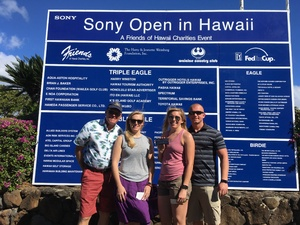 Alon attended Sony Open in Hawaii - PGA Tour at Waialae Country Club - *see Notes on Jan 7th 2019 via VetTix
