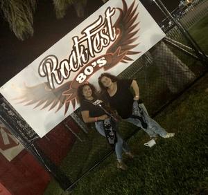 Scarlette attended Rockfest 80's Music Festival - Undefined on Nov 11th 2018 via VetTix
